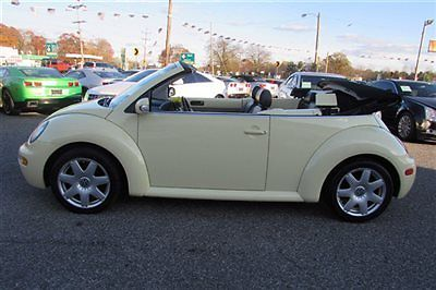 Volkswagen : Beetle-New 2dr Convertible GLX Turbo Automatic 2003 volkswagen beetle glx convertible clean car fax best price must see