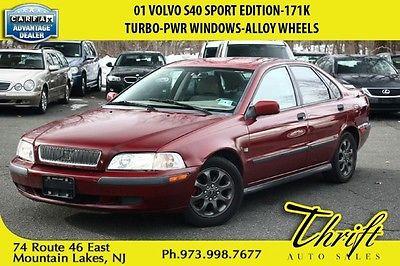 Volvo : S40 Sport Edition 01 volvo s 40 sport edition 171 k turbo pwr windows alloy wheels