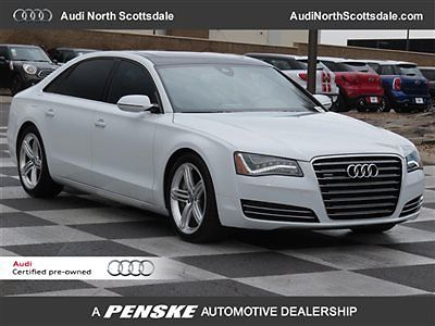Audi : A8 -One Owner-V8-AWD-Certified- 2014 audi a 8 l 5 k miles leather pano roof sport plus package financing