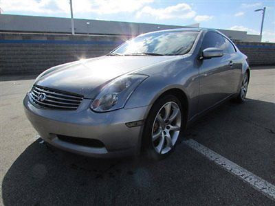 Infiniti : G35 2dr Coupe Manual w/Leather 2 dr coupe manual w leather manual gasoline 3.5 l v 6 cyl gray