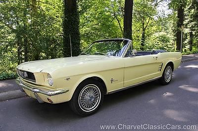 Ford : Mustang Convertible - 289 - Factory A/C. Low Miles! 1966 ford mustang convertible 289 v 8 factory a c 59 000 miles nice
