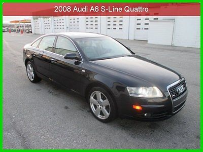 Audi : A6 3.2 2008 3.2 s line quattro awd 1 owner clean carfax sold and serviced by us navi