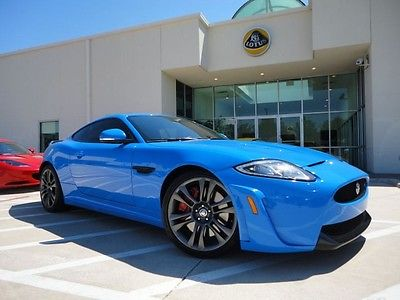 Jaguar : XK Coupe XKR-S 550HP Very Rare French Racing Blue Carbon Fiber Spoiler