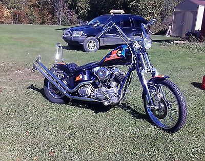 Custom Built Motorcycles : Chopper S&S Knucklehead Custom Chopper  Ron Finch Paint and Modifications Built For Show