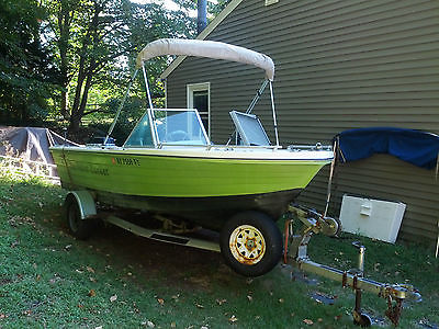 1972, 17 Foot Manatee Runabout / 1977 85HP Evinrude Motor w/Roller Trailer + GPS