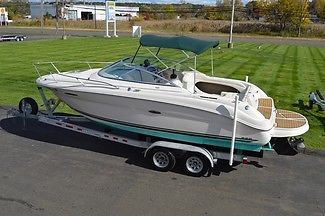 2002 SEA RAY 225 WEEKENDER CUDDY CRUISER, 5.0L EFI 240HP 213 HOURS, W/ TRAILER