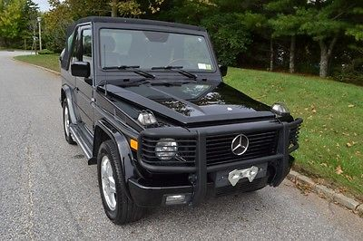Mercedes-Benz : G-Class AMG performance top down G Wagon 2002 mercedes g 55 convertible with 60154 original miles
