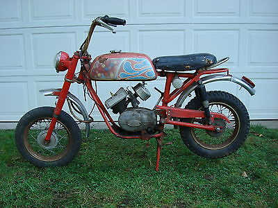 Other Makes Vtg Yankee Boss Mini Bike_1970's_Antique_Turbo Head_Rare Bike
