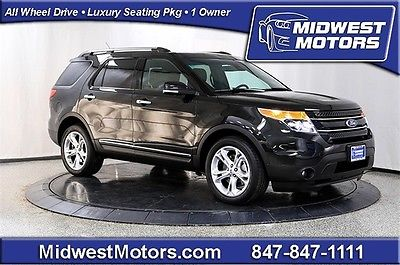 Ford : Explorer Limited 2014 ford explorer 4 wd nav 1 owner 3 rd row dual pan sunroof