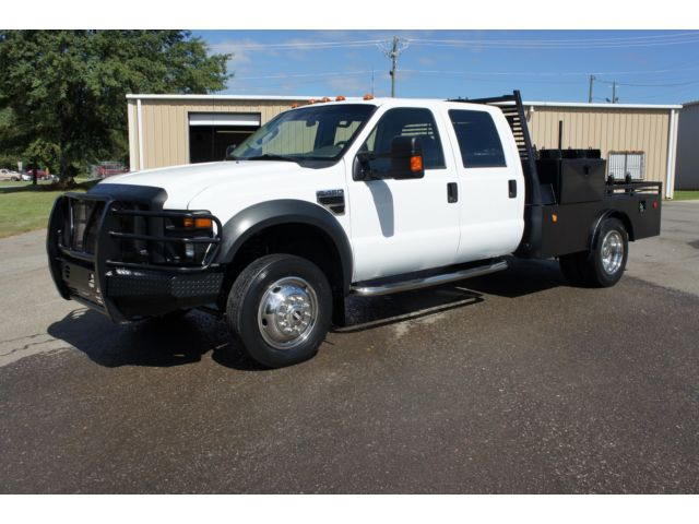 Ford : Other Pickups 4WD Crew Cab 2008 ford f 450 4 x 4 crew cab new tires flatbed work truck f 450 f 550 nice
