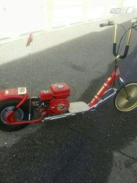 Custom gas scooter