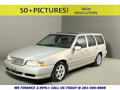 Volvo : V70 2000 V70 SUNROOF WOOD LEATHER PWR SEAT CRUISE AUTO 2000 volvo v 70 sunroof leather wood pwr seat auto cruise 15 alloys silver