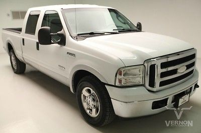 Ford : F-250 Lariat Crew Cab 2WD 2006 gray leather reverse sensing trailer hitch v 8 diesel 160 k miles