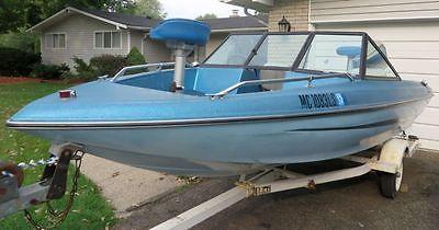 Ebbtide Bass Ski Boat with 85HP Suzuki Oil Injected OUTBOARD motor w/power tilt