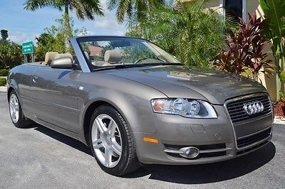 Audi : A4 2.0T Convertible 2008 audi a 4 cabriolet florida convertible 44 k miles 2.0 t birch wood automatic