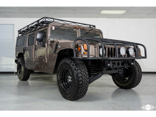Hummer : H1 4dr Wagon 1995 am general hummer h 1 wagon diesel low miles new condition