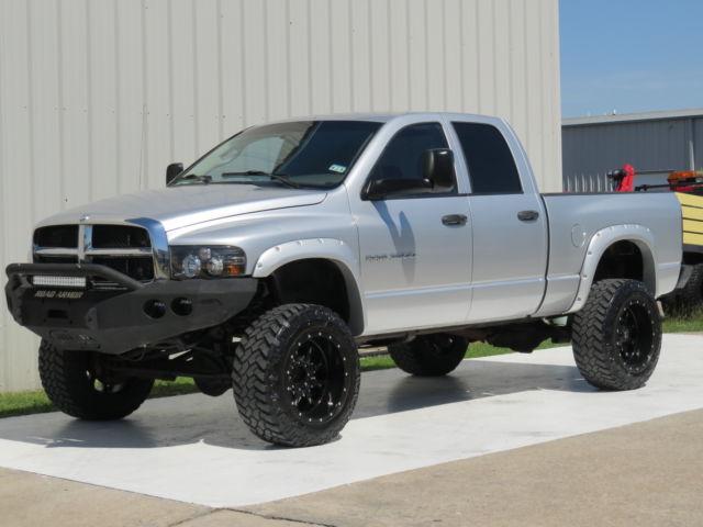 Dodge : Ram 2500 Diesel 4x4 04 ram 2500 slt 5.9 l cummins h o 4 x 4 lifted bumper 35 x 20 carfax flares gauges tx