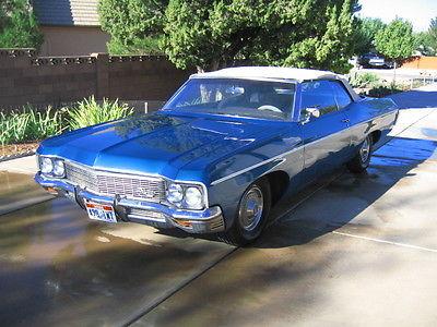 Chevrolet : Impala Convertible 2 door 1970 chevrolet impala convertible