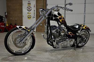 Custom Built Motorcycles : Chopper 07 big dog chopper beautiful old school flames 117 s s motor baker 6 speed
