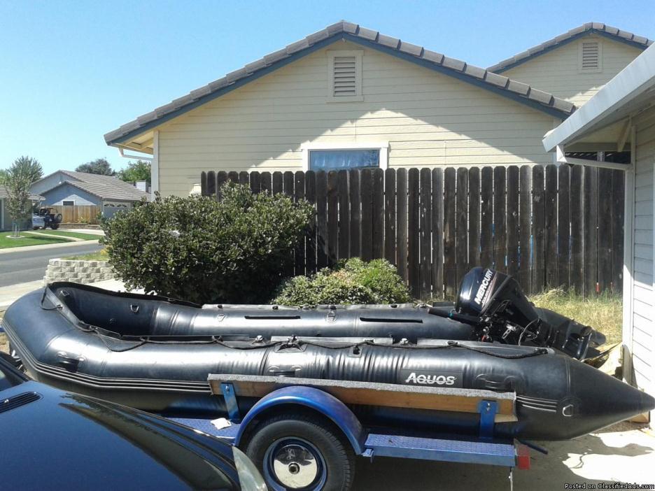 FISHING BOAT, MERCURY, TRAILER, 7' LOWRANCE DOWNSCAN?ALL NEW?