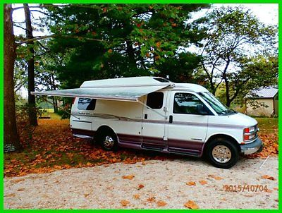 2001 Roadtrek Popular 200 20' Class B RV Chevy Vortec Gas A/C Generator Hitch