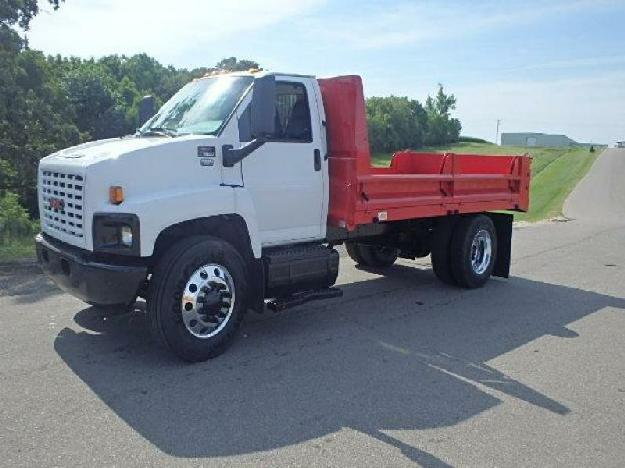Gmc topkick c7500 flatbed dump truck for sale