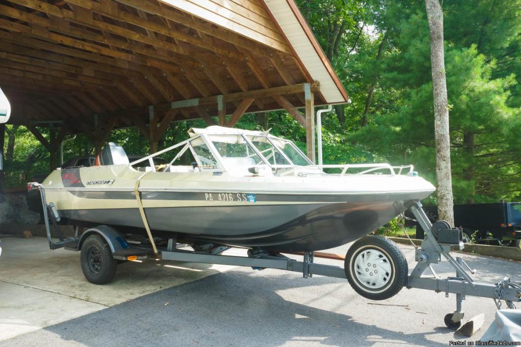 1979 Tri Star Craft 3 Haul Boat w/ 90 HP Mercury Outboard Motor & Trailor