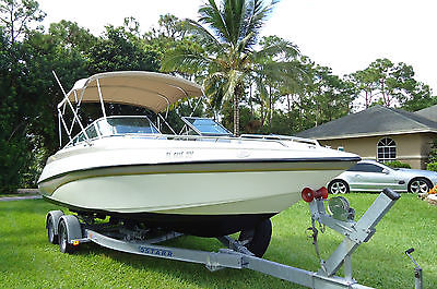 1998 CROWNLINE 248BR 25' Mercruiser V8 5.7 EFI w/ trailer Low Reserve