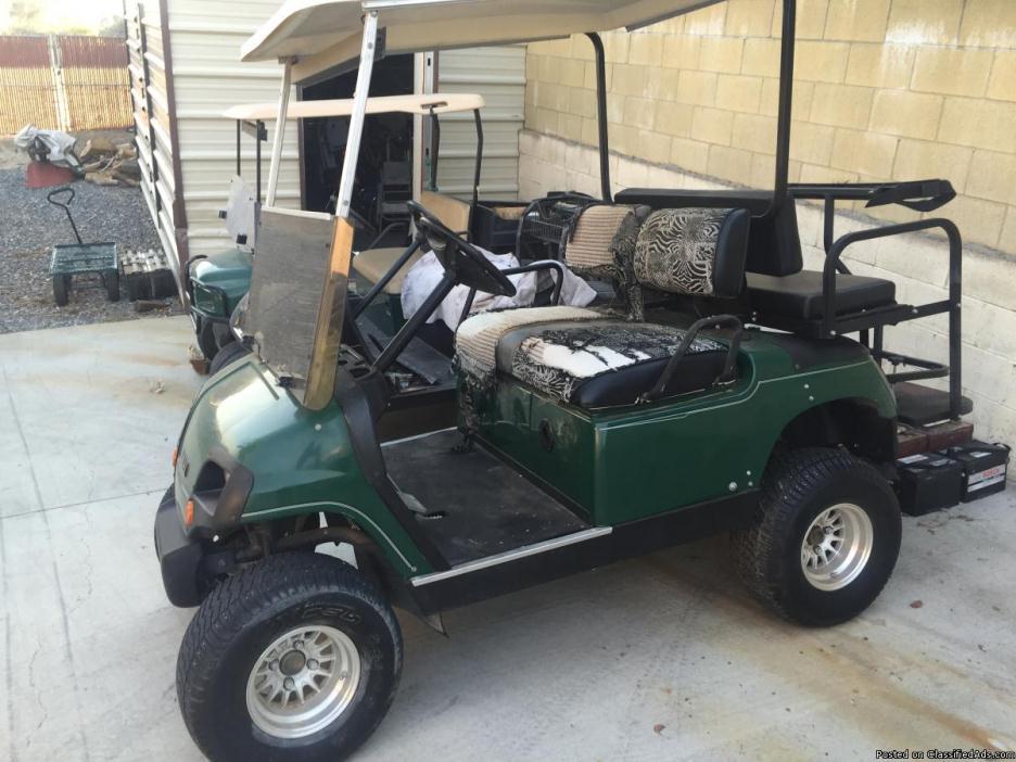Golf cart lifted 48 volt Yamaha