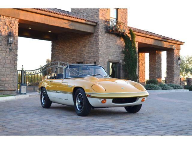 Lotus : Other Elan Sprint 1972 lotus elan sprint roadster original documented car from new all books tools