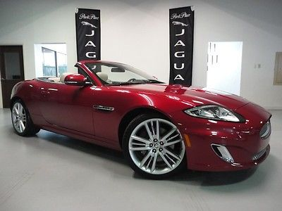 Jaguar : XK Convertible 2012 jaguar xk convertible red with ivory leather