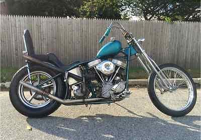Harley-Davidson : Other 1949 harley davidson panhead fl chopper survivor vintage barn find