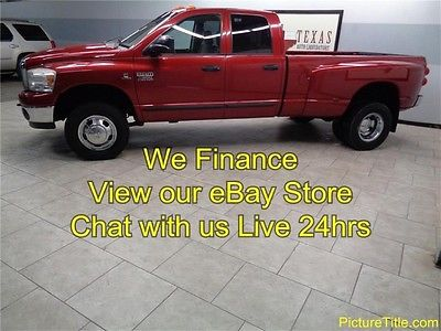 Dodge : Ram 3500 SLT 07 ram 3500 dually 4 x 4 5.9 cummins diesel we finance 1 texas owner