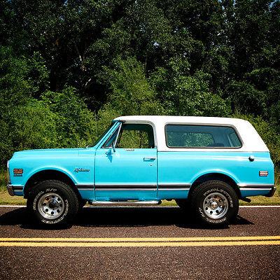 Chevrolet : Blazer K5 1971 chevrolet k 5 blazer 350 v 8 4 x 4 4 speed manual restored dry climate truck