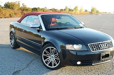 Audi : S4 Cabriolet Convertible 2-Door 2004 audi s 4 quattro convertible rare red top and interior custom