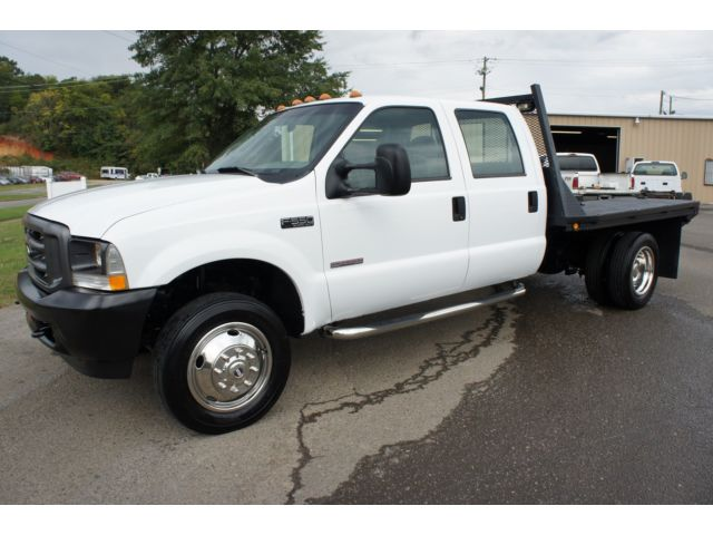 Ford : Other Pickups Crew Cab 176 2004 ford f 550 6.0 powerstroke diesel crew cab flatbed work truck nice