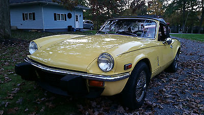 Triumph : Spitfire Convertible 1978 triumph spitfire 1500 lowered reserve great driver very good condition