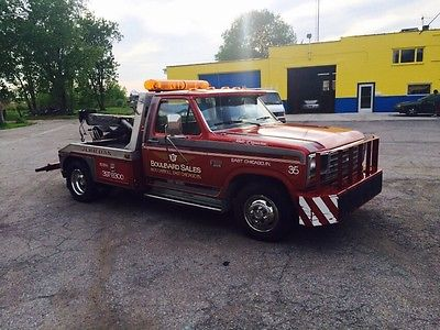 Ford : F-350 Towing Truck 1986 ford f 350 base standard cab pickup 2 door 6.9 l