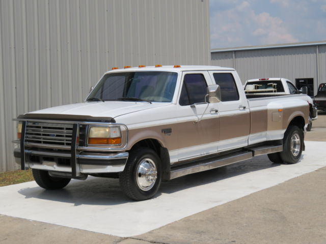 Ford : F-350 7.3L 5spd 97 f 350 xlt 7.3 l powerstroke turbo diesel 5 spd manual 200 k carfax exhaust crew