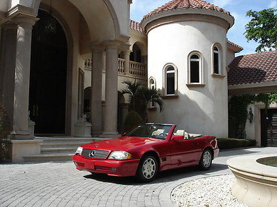 Mercedes-Benz : SL-Class SL 500 FLORIDA, ONE OWNER, 2 TOPS, RED/TAN, NEW SOFT TOP, AWESOME !!