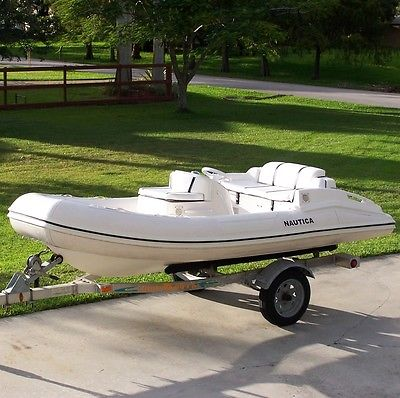 1999 Nautica 12 Inflatable Jet Boat RIB Rigid Tender Yamaha 701 Engine & Trailer
