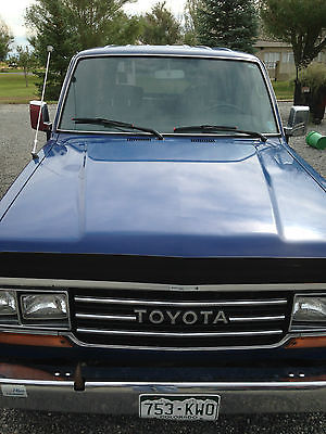 Toyota : Land Cruiser Land Cruiser 1989 toyota land cruiser blue no rust good tires great shape everything works
