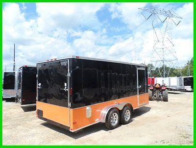 7x16 2'v 18ft enclosed cargo motorcycle trailer free Harley Davidson Decals BK&O