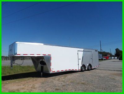 Mission trailers 8.5x34 goose neck enclsoed cargo motorcycle trailer14k GVWR New