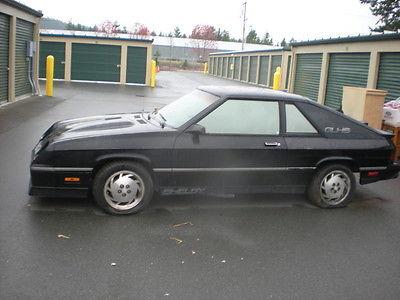 Shelby : GLHS 1987 shelby glhs 369 1000