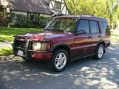 Land Rover : Discovery Burgundy Gorgeous California Rust Free Land Rover Discovery  7 Passenger all Grill Guards