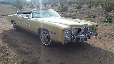 Cadillac : Eldorado 1975 cadillac eldorado convertible