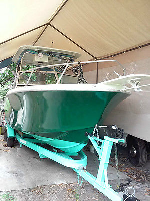 25 ft boat 225 hp yamaha outboard fishing cuddy cabin saltwater and trailer