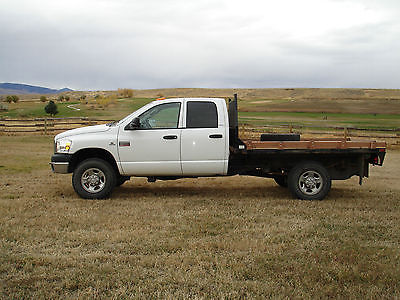 Dodge : Ram 3500 SLT Cab & Chassis 4-Door 2007 dodge ram 3500 cab chassis with 9 1 2 flatbed