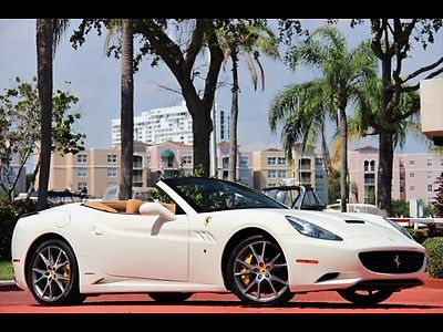 Ferrari : California Base Convertible 2-Door WHITE ONLY 10K MILES $1,411.00 A MONTH 2012 SCUDERIA SHIELDS DIAMOND LEATHER 20